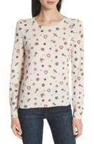 Joie Women's Abilene Print Cashmere Sweater