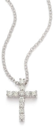 Hearts On Fire Whimsical Diamond & 18K White Gold Cross Pendant Necklace