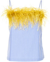 Le Ciel Bleu feather trim camisole top