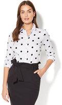 New York & Co. 7th Avenue - Madison Stretch Shirt - Polka-Dot Print