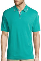 Claiborne Short-Sleeve Interlock Polo