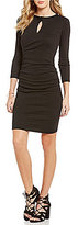 Michael Stars Twisted Keyhole 3/4 Sleeve Sheath Dress