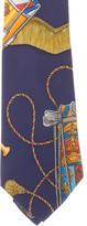 Hermes Les Tamours Silk Tie