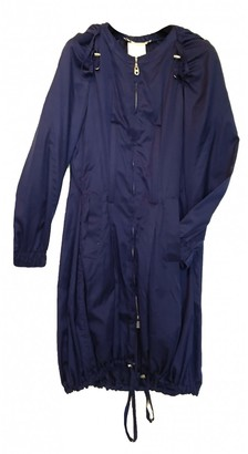Celine Navy Silk Coat for Women Vintage