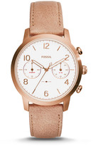 Fossil Caiden Multifunction Sand Leather Watch