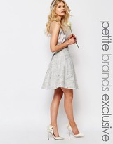 Chi Chi Petite Chi-Chi London Petite Allover Sequin Baroque Detail Full Midi Prom Skirt