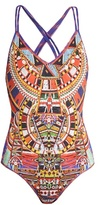 Camilla Rainbow Warrior-print reversible swimsuit