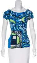 Versace Printed Short Sleeve Top