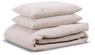 Flax Sleep Linen Duvet Set Blush, Queen