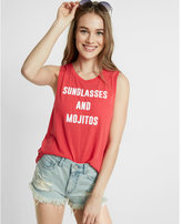 Express sunglasses mojitos crew neck muscle tank