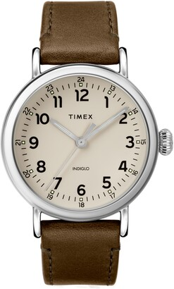 Timex Standard Leather Strap Watch, 40mm
