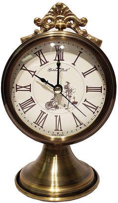 Golden Bell Antique Roman Numeral Silent Non-Ticking Desk Alarm Clock