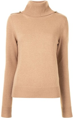 Mulberry Roll-Neck Fitted Jumper