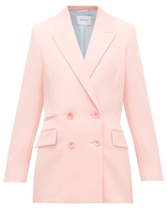 Racil Archie Double-breasted Wool-twill Jacket - Womens - Pink