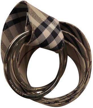 Burberry Beige Cloth Belts