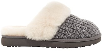 UGG Cozy Sheepskin-Lined Knit Slippers