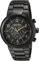 Philip Stein Teslar Men's 'Active' Quartz Stainless Steel Casual Watch, Color: (Model: 32-ABRG-BSS)