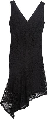 DKNY Asymmetrical V-Neck Lace Dress