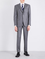Corneliani Sharkskin academy-fit wool suit
