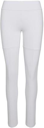 Black White Beige Leggings 001 - White