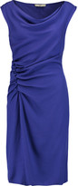 Halston Ruched crepe dress