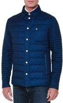 Stefano Ricci Quilted Button-Down Field Jacket, Blue