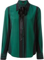 Marc Jacobs striped pussy bow shirt