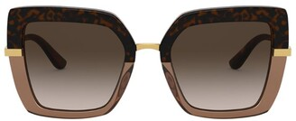 Dolce & Gabbana Printed Square Sunglasses