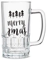 "Threshold Merry Xmas"" Beer Stein Glass 16.5oz"