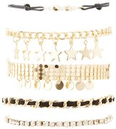 Charlotte Russe Star Charm Layering Bracelets - 5 Pack