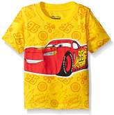 Disney Toddler Boys Cars Lightning Mcqueen All-Over Print Short Sleeve Tee