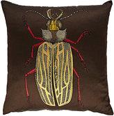 Fornasetti Scarabeo & Malachite Cotton-Blend Pillow