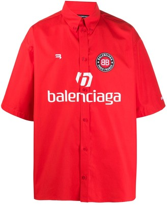 Balenciaga Soccer print short-sleeve shirt