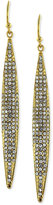 Earrings, Gold-Tone Crystal Pave Linear Earrings