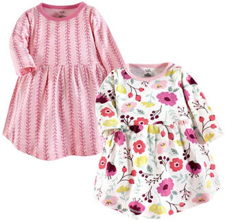 Baby Vision Touched by Nature Baby Girl Organic Cotton Dress, Long Sleeve 2-Pack, 0 Months - 5T