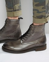 Base London Track Lace-up Leather Boots