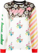 Au Jour Le Jour contrast print T-shirt - women - Polyamide/Polyester/Spandex/Elastane - 42