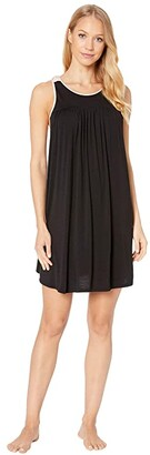 Kate Spade Scattered Dot Knit Chemise (Black) Women's Pajama