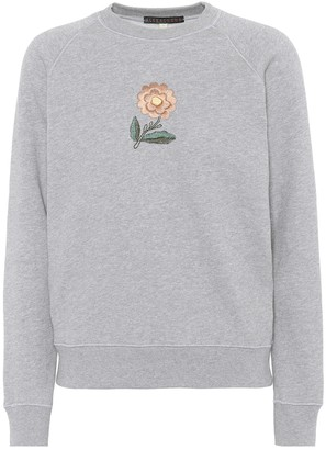 ALEXACHUNG Embroidered cotton sweatshirt