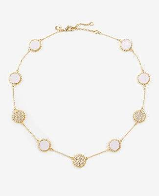 Ann Taylor Pave Disc Statement Necklace
