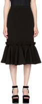 Edit Black Ruffled Hem Skirt