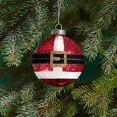 Bloomingdale's Glass Red Glitter Santa Ball Ornament - 100% Exclusive