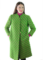 Cheeky Vintage Wool Coat Pink And Green