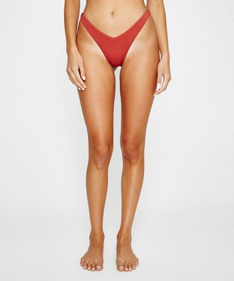 Subtitled Thighbrow Bikini Bottoms Burnt Red