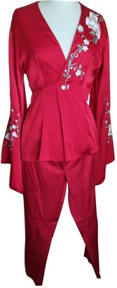 Flavio Castellani Red Silk Jacket for Women