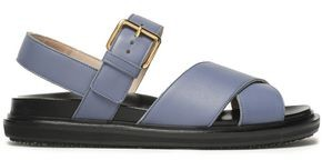 Marni Textured-leather Slingback Sandals