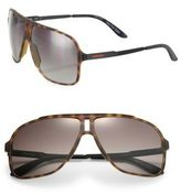 Carrera 11 MM Tortoise Rectangular Sunglasses