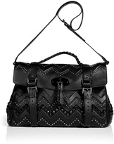 Mulberry Black Smooth Touch Leather Oversized Zigzag Bag