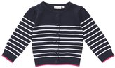 Jo-Jo JoJo Maman Bebe Breton Cardigan (Toddler/Kid)-Navy/White-4-5 Years
