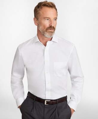 Brooks Brothers Madison Classic-Fit Dress Shirt, Performance Non-Iron with COOLMAX, English Spread Collar Broadcloth